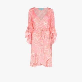Melissa Odabash Kirsty palm print wrap dress