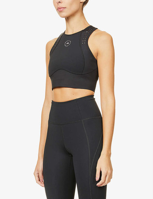 adidas by Stella McCartney Truepur recycled stretch-polyester crop top