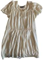 BCBGMAXAZRIA White Silk Dress for Women