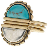Lucky Brand Turquoise Stone Stacked Ring - Size 7
