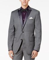 Bar III Men's Slim-Fit Medium Gray Textured Tuxedo Jacket, Only at Macy's