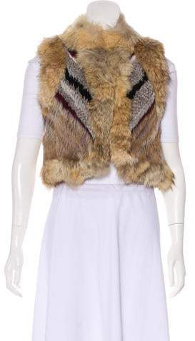 Elizabeth and James Fur Patterned Vest