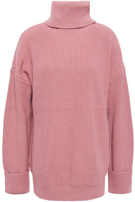 Joie Ribbed Cotton And Cashmere-blend Turtleneck Sweater