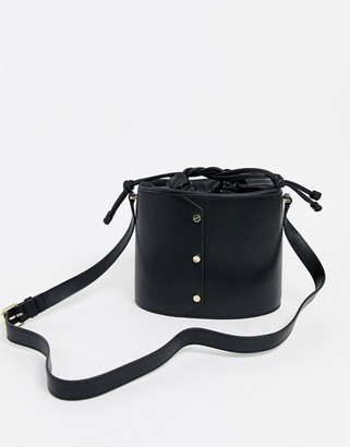 And other stories & leather bucket bag in black