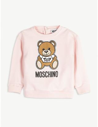 Moschino Bear applique cotton sweatshirt 3-36 months