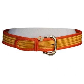 Saint Laurent Orange Cotton Belts