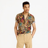 J.Crew Short-sleeve camp-collar shirt in wild jungle print
