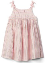 Gap Shimmer stripe bow dress