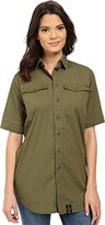 G Star Women's Rovic Long Boyfriend Shirt Office Stretch Poplin