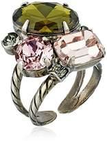 Sorrelli Army Girl Multi-Cut Crystal Clustered Ring