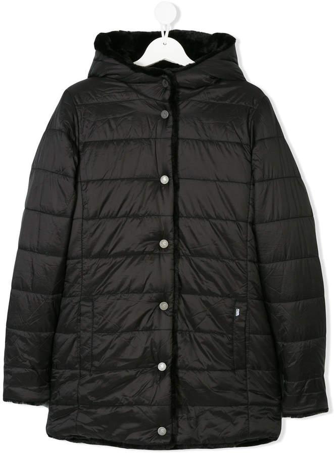 Karl Lagerfeld Teen faux fur lined coat