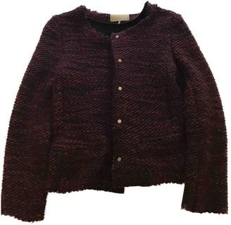 IRO Burgundy Wool Jackets
