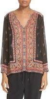 Joie 'Haya' Border Print Silk Blouse