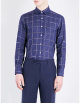 Canali Regular-fit Checked Cotton-blend Shirt