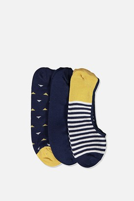 Cotton On Invisible Socks 3 Pack