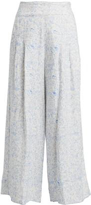Agua Bendita Vanilla Linen Wide Leg Pants