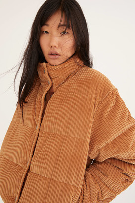 Urban Outfitters Lucy Corduroy Cropped Puffer Jacket