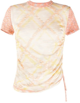 M Missoni fitted geometric patterned T-shirt