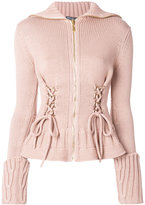Alexander McQueen lace-up cardigan - women - Wool - XS