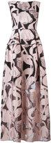 Talbot Runhof Locomotion gown - women - Silk/Polyamide/Polyester/Cupro - 36