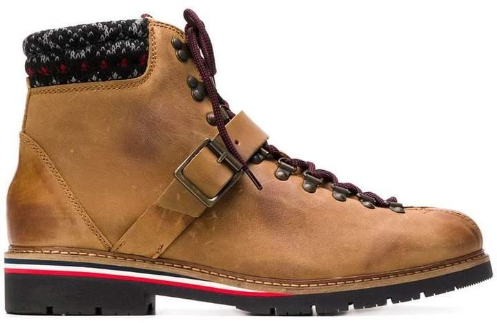 Tommy Hilfiger knit trim ankle boots