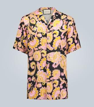 Gucci Paisley printed linen shirt