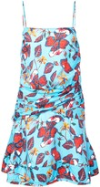 Derek Lam 10 Crosby Floral Print Flounce Mini Dress
