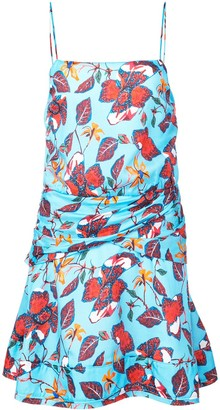 Derek Lam 10 Crosby Floral Print Flounce Mini Dress