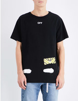 Off-White Spray logo-print cotton-jersey t-shirt