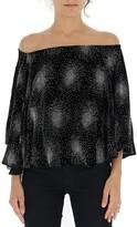 Sonia Rykiel Off-Shoulder Embellished Blouse
