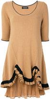 Twin-Set ruffle trim jersey dress - women - Polyamide/Viscose/Cashmere/Wool - S