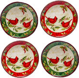 Certified International Winter Wonder Set of 4 Canap Plates