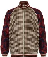 Gucci - Micro Check And Paisley Print Velvet Track Jacket - Mens - Brown