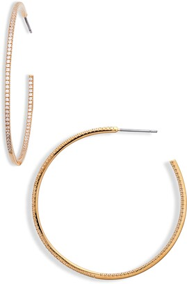 Nordstrom Pave Cubic Zirconia Hoop Earrings