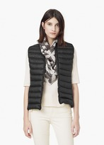 Mango Outlet Quilted Lightweight Feather Gilet
