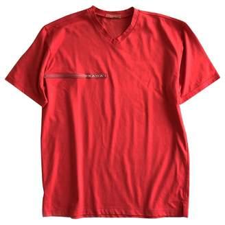 Prada Red Cotton T-shirts