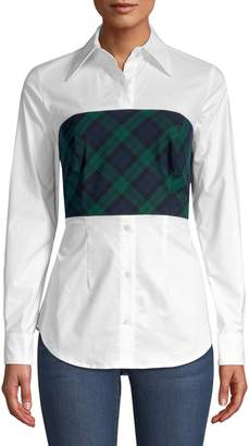 Petersyn Monroe Plaid-Overlay Shirt