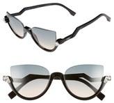 Fendi Women's 52Mm Sunglasses - Havana/ Shiny Black