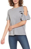 BP Women's Ruffle Cutout Tee