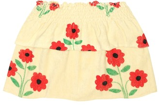 The Animals Observatory Wombat floral cotton-blend skirt