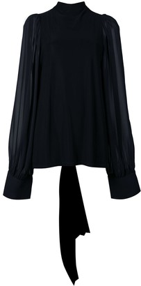 Vera Wang Sheer Back Blouse