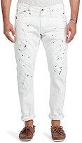 Polo Ralph Lauren Sullivan Slim-Fit Paint Splatter Jeans