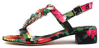 Django & Juliette New Blooms Black Multi Bright Jewels Womens Shoes Dress