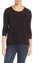 Gibson Women's High/low Slub Knit Sweater