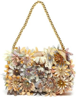 VANINA 'Inflorescence' floral baguette shoulder bag