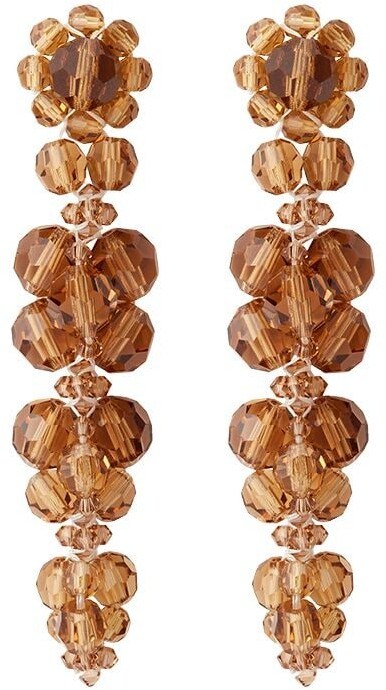 Thumbnail for your product : Simone Rocha Cluster Flower drop earrings