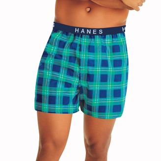 Hanes Big & Tall 4-pack Ultimate Full-Cut Paterned Woven Boxers