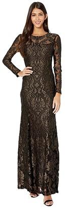 BCBGMAXAZRIA Eve Long Knit Dress (Black Combo) Women's Dress