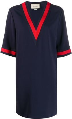 Gucci Oversize viscose shirt with Web