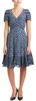 Rebecca Taylor Women's Short Sleeve Marrakech Paisley Dress
